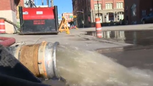 Crews are working overtime to pump water out of homes and businesses in Calgary.