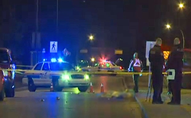 pedestrian hit, 90 ave, 19 street