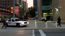 Calgary police tape off scene at courthouse