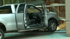 Truck rammed into courthouse