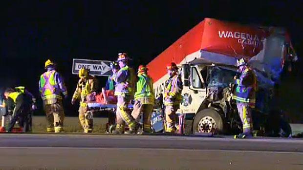 Three men sent to hospital after late night crash
