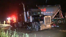 Police say truck lost control