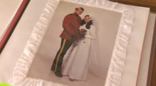 Sharon Geier wedding dress photo