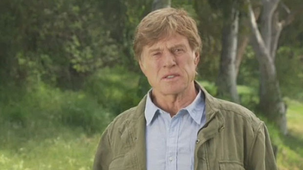 Robert Redford speaking out against oilsands