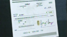 Fraudulent cheque