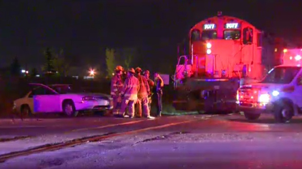 Train and car collide at Hubalta Rd. S.E.