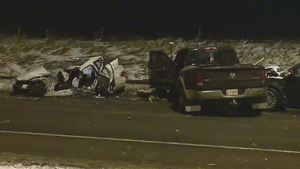 Impaired driving charges are pending in a crash that sent three people to hospital on Wednesday evening in northeast Calgary.