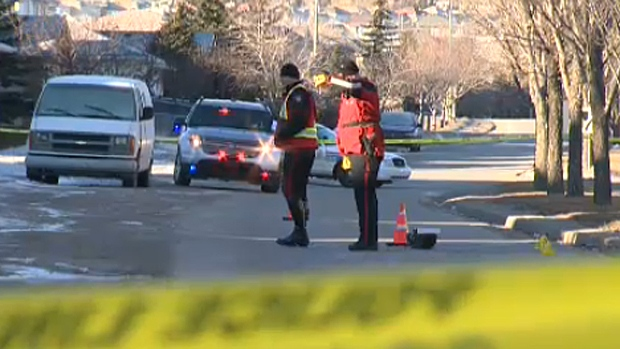 Police are investigating a hit and run on Hidden Valley Drive N.W. after a man in his 20s was struck while crossing the street. He is at Foothills Hospital in stable condition.