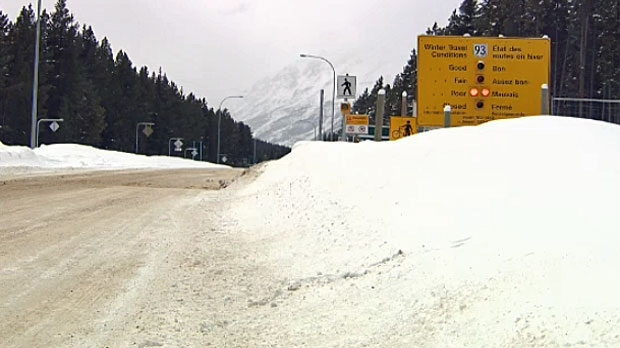 Highway 93 north of Lake Louise.