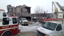 Douglas Glen house fire - neighbouring home