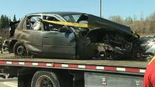Wreckage from Crowchild Trail crash
