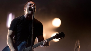 Trent Reznor of Nine Inch Nails performs at the Vive Latino music festival in Mexico City, Mexico, March 27, 2014. (AP / Rebecca Blackwell)
