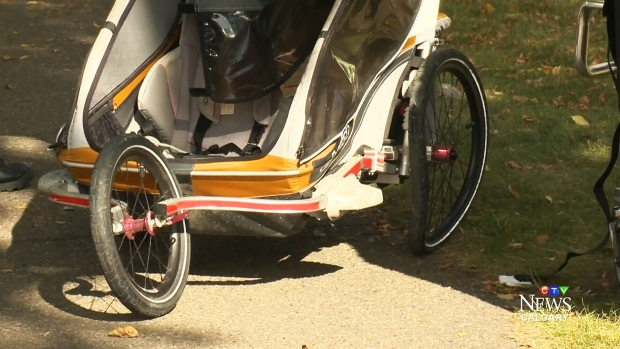 Two children in Edmonton were relatively unscathed after their stroller, designed in Calgary, was struck by a car. Kevin Fleming reports.