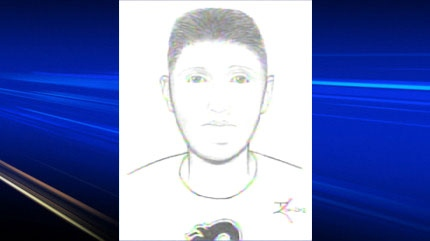 Police sketch of abduction suspect