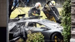 CTV Vancouver: Lamborghini crashes into fence