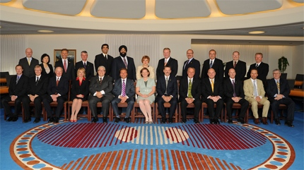 PC cabinet members are joined by other members of the PC party