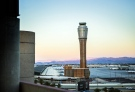 The FAA tower under construction at McCarran International Airport in Las Vegas is seen Wednesday, Aug, 6, 2014. (Las Vegas Review-Journal / Jeff Scheid)