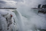 Will Gadd has become the first person to scale up an ice-covered Niagara Falls. (Greg Mionske/Red Bull Content Pool)