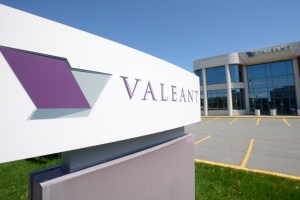 The head office and logo of Valeant Pharmaceutical are pictured in Montreal on Monday, May 27, 2013. (Ryan Remiorz / The Canadian Press)