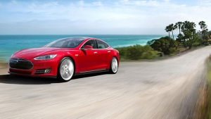 The Tesla Model S. (Photo from Tesla Motors Events)