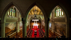 The Senate chamber is seen in Ottawa, on Thursday Jan. 13, 2011. (Sean Kilpatrick / THE CANADIAN PRESS)