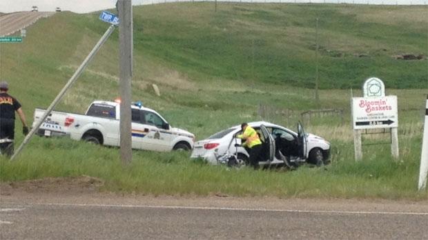 One dead in highway crash west of Beiseker | CTV Calgary News