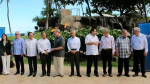 Trade ministers from 12 Pacific Rim nations negotiating the Trans-Pacific Partnership agreement pose for a group photo at a meeting in Lahaina, Hawaii on Thursday, July 30, 2015. (AP Photo/Audrey McAvoy)