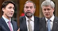 Harper Trudeau Mulclair