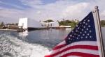 This Dec. 7, 2012 file photo shows the the USS Arizona Memorial at Pearl Harbor, Hawaii. (AP / Eugene Tanner)