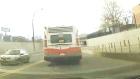 CTV Calgary: Dashcam catches bus debris