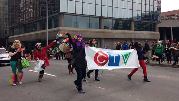 CTV Calgary Pride 2015 team.