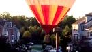 Hot air baloon makes emergency landing
