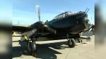 Lancaster bomber in museum in Nanton