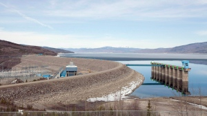 The W.A.C. Bennett Dam on the Peace River is pictured on April 19, 2010 in Hudson's Hope, B.C. (Jonathan Hayward / THE CANADIAN PRESS)