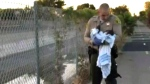 Newborn rescued from riverbed hole