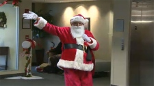 Santa, inspires,  Calgary senior's centre, Silvera