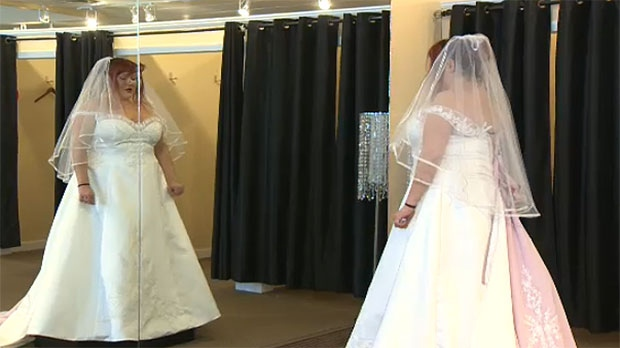 calgary wedding shop sets up bride with gown for her big day ctv calgary news. Black Bedroom Furniture Sets. Home Design Ideas