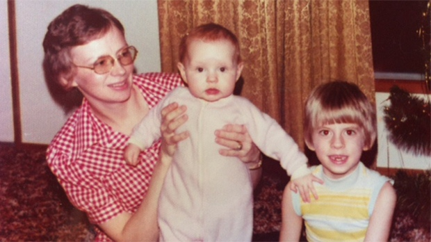 Childhood photo of Bonnie Eklund in the arms of her mother Vernette (courtesy: Eklund family)