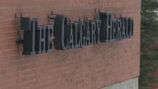 Calgary Herald sign