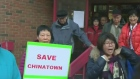 Members of Calgary's Chinese community are protest