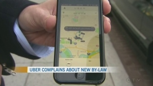 Uber taking shots at the city