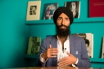 Waris Ahluwalia, a member of the Sikh community, gives an interview in Mexico City, Tuesday, Feb. 9, 2016. (AP Photo/Eduardo Verdugo)
