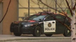 A CPS unit outside of the Peter Lougheed Centre on Wednesday afternoon