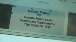 Flames vs Leafs hockey tickets
