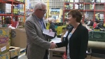 """Calgary-based Edo Japan has donated just over $19,000 to the Calgary Food Bank to help with their """"Weekends and More"""" program."""