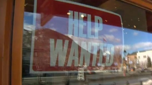 Help Wanted sign - Banff Avenue