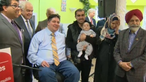 Politicians and Syrian refugees in Calgary