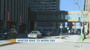 Winter Bike day in Calgary