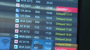 Fog delays - Calgary International Airport
