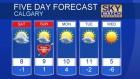 Calgary forecast Feb 12, 2016